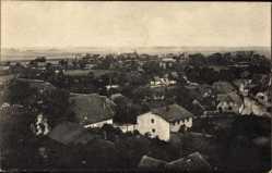 Postcard Wiek auf Rügen, Blick auf den Ort vom Kirchturm aus gesehen