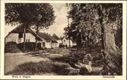 Postcard Wiek auf der Insel Rügen, Dorfstraße mit Häusern