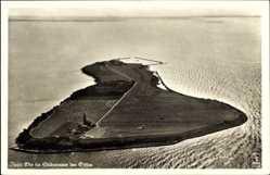 Postcard Insel Oie Kröslin, Fliegeraufnahme von der gesamten Insel