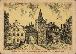 Künstler Ak Zerbst in Anhalt, Tausendjahrfeier August 1949