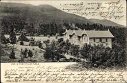 Postcard Friedrichroda im Thüringer Wald, Hotel Waldhaus mit Umgebung