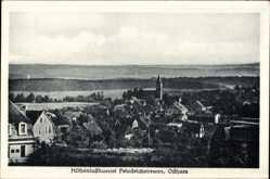 Postcard Friedrichsbrunn Thale im Harz, Totalansicht des Ortes mit Landschaft
