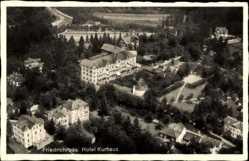 Postcard Friedrichroda im Thüringer Wald, Fliegeraufnahme von Hotel Kurhaus