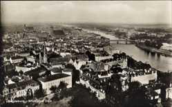 Postcard Magdeburg in Sachsen Anhalt, Blick vom Dom auf Stadt mit Elbe