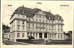 Postcard Gotha im Thüringer Becken, Blick auf das Schloss Hotel