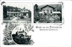 Postcard Mühlental Nöschenrode Wernigerode am Harz, Ferienheim, Elim, Schloss