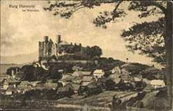 Postcard Bornhagen, Burg Hanstein im Werratal, Turm, Gebäude, Wald