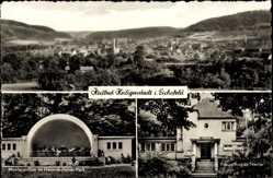 Postcard Heilbad Heiligenstadt in Thüringen, Stadtpanorama, Musikpavillon, Kneippbad