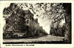 Postcard Genthin am Elbe Havel Kanal, Leninstraße, Heimatmuseum, Fachwerk