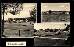 Postcard Kühnhaide Marienberg im Erzgebirge, Blick auf den Ort, Felder
