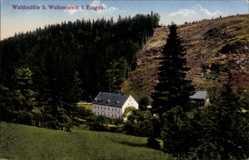 Postcard Wolkenstein im Erzgebirge, Blick auf das Restaurant Waldmühle