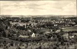 Postcard Oelsnitz Vogtland, Totalansicht der Ortschaft, Felder, Kirchturm