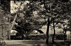 Postcard Bad Wilsnack in der Prignitz, Partie an der Oberschule, Brücke