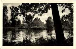 Postcard Perleberg in der Prignitz, Ausflugsort Neue Mühle, Gewässerpartie
