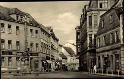 Postcard Perleberg in der Prignitz, Am Schuhmarkt, Friseur, Geschäfte