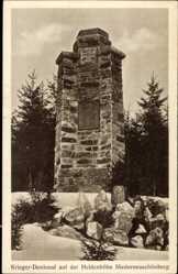 Postcard Niederneuschönberg Olbernhau im Erzgebirge Sachsen, Kriegerdenkmal,Heldenhöhe