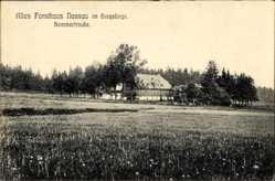 Postcard Nassau Frauenstein im Erzgebirge, Blick auf das alte Forsthaus
