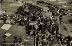 Postcard Rechenberg Bienenmühle Erzgebirge, Totalansicht der Ortschaft,Fliegeraufnahme