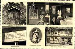 Ak Bad Lauchstädt in Thüringen, Goethes Ehefrau Christiane Vulpius, Kaufhaus