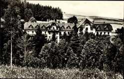 Postcard Mühlhausen Bad Elster Vogtland, Blick auf die Heilstätte