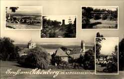 Postcard Schönberg Bad Brambach im Vogtland, Ortschaft am Kapellenberg