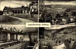 Postcard Klingenthal im Vogtland Sachsen, Jugendherberge Aschberg