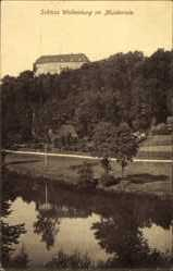 Postcard Wolkenburg Limbach Oberfrohna Sachsen, Schlossblick, Muldental