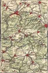 Landkarten Ak Wernigerode am Harz, Hasselfelde, Berenburg, Elbingerode