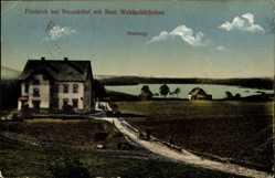 Postcard Schneeberg Neustädtel im Erzgebirge, Filzteich, Kuhberg, Waldschlösschen