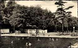 Postcard Crimmitschau in Sachsen, Partie im Sahnbad, Freibad, Wald