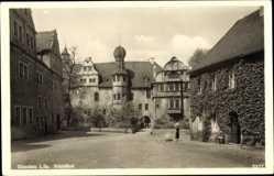 Postcard Glauchau an der Zwickauer Mulde, Blick in den Schloßhof des Schlosses