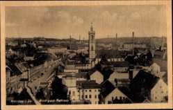 Postcard Werdau an der Pleiße in Sachsen, Blick vom Rathaus Turm auf den Ort