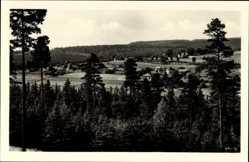 Postcard Sohl Bad Elster im Vogtland, Blick auf den Ort, Felder, Wald