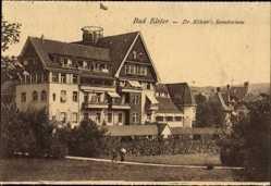Postcard Bad Elster im Vogtland, Dr. Köhlers Sanatorium, Fassade, Gartenanlage