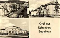 Postcard Rabenberg Breitenbrunn im Erzgebirge, Kulturhaus, Kinderheim, Totale