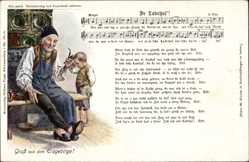 Lied Ak De Ladrhus', Gruß aus dem Erzgebirge, Lederschuh, Großvater