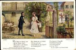 Künstler Ak Österr. Komponist Franz Schubert, Dreimäderlhaus, Singspiel
