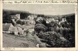 Ak Schierke Wernigerode am Harz, Blick über die Dächer der Stadt