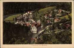 Ak Treseburg Thale im Harz, Blick auf den Ort im Bodetal