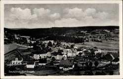 Postcard Deutschneudorf im Erzgebirge, Totalansicht des Ortes