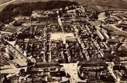 Postcard Saarlouis im Saarland, Fliegeraufnahme von der Stadt
