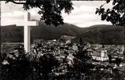 Postcard Waldkirch im Elztal, Gesamtansicht vom Ehrenmal aus