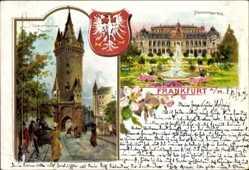 Wappen Litho Frankfurt am Main, Palmengarten, Eschenheimer Turm