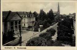 Postcard Müllheim im Kreis Breisgau Hochschwarzwald, Sparkasse in der Werderstraße