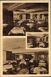 Postcard Waldbröl im Oberbergischen Kreis, Hotel Althoff, Innenansicht