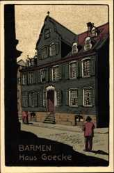 Steindruck Ak Barmen Wuppertal in Nordrhein Westfalen, Haus Goecke