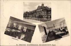 Postcard Neunkirchen im Saarland, St. Vincenz Waisenhaus, Schlafsaal, Aufgabesaal