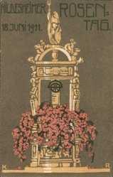 Künstler Ak Hildesheim, Rosentag am 18.06.1911, Monument, Rosen