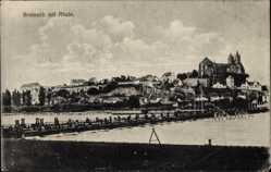 Postcard Breisach am Oberrhein Hochschwarzwald, Blick auf Stadt mit Brücke