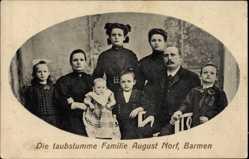 Foto Ak Barmen Wuppertal, die taubstumme Familie August Norf